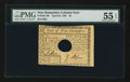 Colonial Notes:New Hampshire, New Hampshire April 29, 1780 $2 PMG About Uncirculated 55 EPQ.. ...