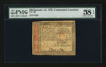 Colonial Notes:Continental Congress Issues, Continental Currency January 14, 1779 $65 PMG Choice About Unc 58EPQ.. ...