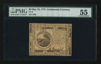 Continental Currency May 10, 1775 $6 PMG About Uncirculated 55