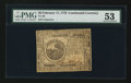Colonial Notes:Continental Congress Issues, Continental Currency February 17, 1776 $6 PMG About Uncirculated53.. ...