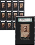 Football Cards:Sets, 1894 N302 Mayo's Cut Plug Football Complete Set (35) - #4 on theSGC Set Registry!...