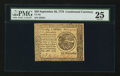 Colonial Notes:Continental Congress Issues, Continental Currency September 26, 1778 $20 PMG Very Fine 25.. ...