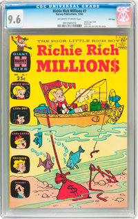 Richie Rich Millions #7 File Copy (Harvey, 1963) CGC NM+ 9.6 Off-white to white pages