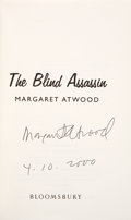 Books:Signed Editions, Margaret Atwood. The Blind Assassin. London: Bloomsbury, 2000. First UK edition. Signed and dated by the autho...