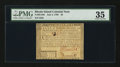 Colonial Notes:Rhode Island, Rhode Island July 2, 1780 $5 Fully Signed PMG Choice Very Fine 35.....