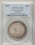 Bust Half Dollars, 1828 50C Square Base 2, Small 8, Small Letters AU55 PCGS. O-119,R.3....