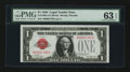 Small Size:Legal Tender Notes, Fr. 1500 $1 1928 Legal Tender Note with four digit number. PMG Choice Uncirculated 63 EPQ.. ...