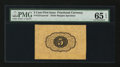 Fractional Currency:First Issue, Fr. 1231SP 5¢ First Issue Wide Margin Back PMG Gem Uncirculated 65 EPQ.. ...