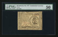 Continental Currency February 26, 1777 $3 PMG About Uncirculated 50