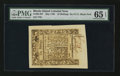 Colonial Notes:Rhode Island, Rhode Island May 1786 10s PMG Gem Uncirculated 65 EPQ.. ...
