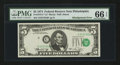 Error Notes:Shifted Third Printing, Fr. 1973-C* $5 1974 Federal Reserve Note. PMG Gem Uncirculated 66 EPQ.. ...