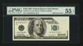 Error Notes:Foldovers, Fr. 2175-A* $100 1996 Federal Reserve Note. PMG About Uncirculated55 EPQ.. ...