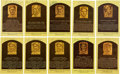 Baseball Collectibles:Others, Baseball Hall of Fame Signed Postcards Lot of 10....