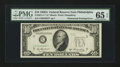 Error Notes:Obstruction Errors, Fr. 2011-C* $10 1950A Federal Reserve Note. PMG Gem Uncirculated 65EPQ.. ...