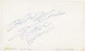 Baseball Collectibles:Others, Roberto Clemente Signed Index Card....