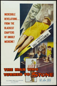 """The Man Who Turned to Stone (Columbia, 1957). One Sheet (27"""" X 41""""). Science Fiction"""
