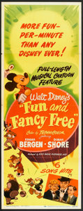 "Movie Posters:Animated, Fun and Fancy Free (RKO, 1947). Insert (14"" X 36""). Animated.. ..."