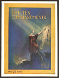 "Movie Posters:Historical Drama, The Ten Commandments (Paramount, 1923). Program (Multiple Pages, 9""X 12""). Historical Drama.. ..."