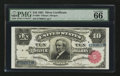 Large Size:Silver Certificates, Fr. 299 $10 1891 Silver Certificate PMG Gem Uncirculated 66 EPQ.. ...