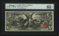 Large Size:Silver Certificates, Fr. 269 $5 1896 Silver Certificate PMG Gem Uncirculated 65 EPQ.....