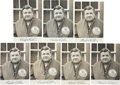 Autographs:Photos, 1934 Babe Ruth Signed Tour of Japan Photographs Lot of 7....