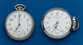 Timepieces:Pocket (post 1900), Two - 16 Size Pocket Watches, Elgin & Illinois Central. ...(Total: 2 Items)