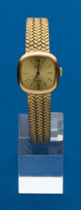 Timepieces:Wristwatch, Rolex, 18k, Ladies Orchid With Gold Band. ...