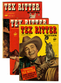 Tex Ritter Western #1, 3, and 8 Group (Fawcett, 1950-51).... (Total: 3 Comic Books)