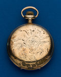 Timepieces:Pocket (post 1900), Tavannes, 16 Size, Gold Filled, Hunters Case. ...