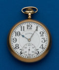 Timepieces:Pocket (post 1900), Illinois, 19 Jewel, 16 Size Pocket Watch. ...