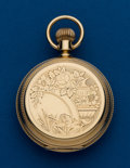 Timepieces:Pocket (post 1900), Elgin, 14k Gold, 18 Size, Hunters Case. ...