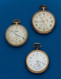 Timepieces:Pocket (post 1900), Three - Gruen 12 Size Pocket Watches. ... (Total: 3 Items)