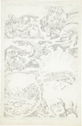 Original Comic Art:Panel Pages, Jack Kirby Super Powers #5 Batman, Robin, and Flash page 21Pencils Original Art (DC, 1986)....