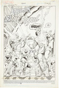 Original Comic Art:Splash Pages, Curt Swan and Al Vey Aquaman #5 Splash page 1 Original Art(DC, 1989)....