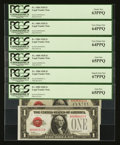 Small Size:Legal Tender Notes, Fr. 1500 $1 1928 Legal Tender Notes. Six Consecutive Examples. PCGS Graded.. ... (Total: 6 notes)