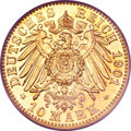 German States:Lubeck, German States: Lubeck. Free City gold 10 Mark 1901A,...