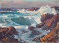 Paintings, EDGAR ALWIN PAYNE (American, 1883-1947). California Sea Scape (double sided), 1922. Oil on artist's board. 12 x 16 inche...