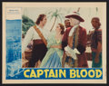 "Movie Posters:Adventure, Captain Blood (Warner Brothers, 1935). Lobby Card (11"" X 14"").Adventure.. ..."