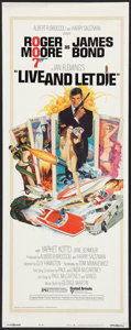 "Movie Posters:James Bond, Live and Let Die (United Artists, 1973). Insert (14"" X 36""). James Bond.. ..."