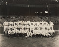 Baseball Collectibles:Photos, 1927 New York Yankees Team Photograph from Yankee StadiumClubhouse....