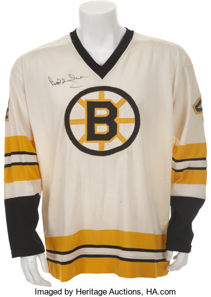 58a0abe6a ... Hockey Collectibles:Uniforms, 1974-75 Bobby Orr Game Worn and Signed  Boston Bruins ...