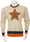Hockey Collectibles:Uniforms, 1939 Eddie Shore Game Worn Babe Siebert Memorial Jersey....