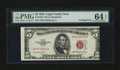Error Notes:Miscellaneous Errors, Fr. 1532 $5 1953 Legal Tender Note. PMG Choice Uncirculated 64 EPQ.. ...