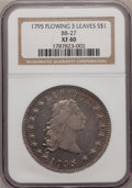 Early Dollars: , 1795 $1 Flowing Hair, Three Leaves XF40 NGC. BB-27. NGC Census:(104/347). PCGS Population (115/257). Mintage: 160,295. Nu...