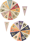 Baseball Cards:Sets, 1916 BF2 Ferguson Bakery Baseball Pennants Near Set (71/97). ...