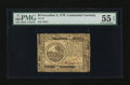 Colonial Notes:Continental Congress Issues, Continental Currency November 2, 1776 $6 PMG About Uncirculated 55EPQ.. ...