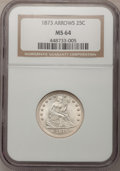 Seated Quarters, 1873 25C Arrows MS64 NGC....