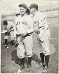 Autographs:Others, 1932 Babe Ruth & Lou Gehrig Signed Large Photograph from The Christy Walsh Collection....