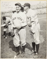 1932 Babe Ruth & Lou Gehrig Signed Large Photograph from The Christy Walsh Collection
