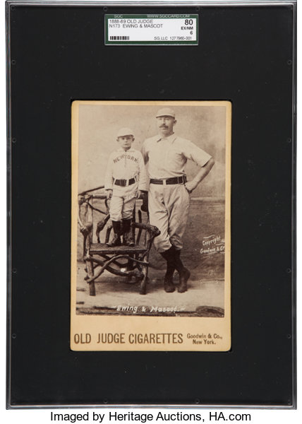 1888 89 Old Judge N173 Ewing Mascot Sgc 80 Exnm 6 Lot